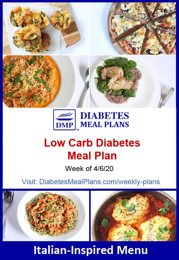 Diabetes Meal Plan: Menu Week of 4/6/20