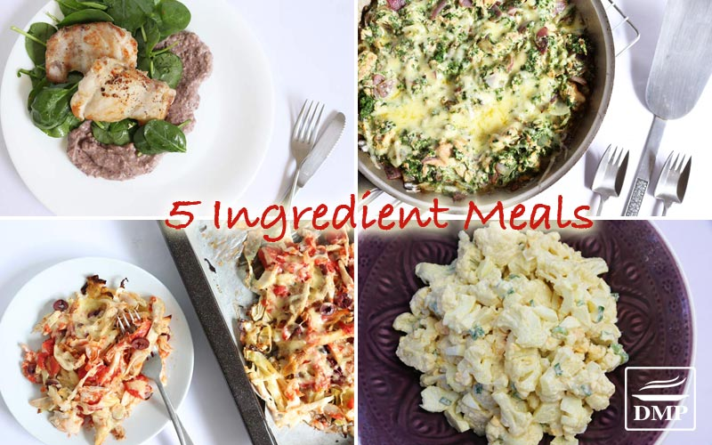DMP 5 ingredient low carb meals