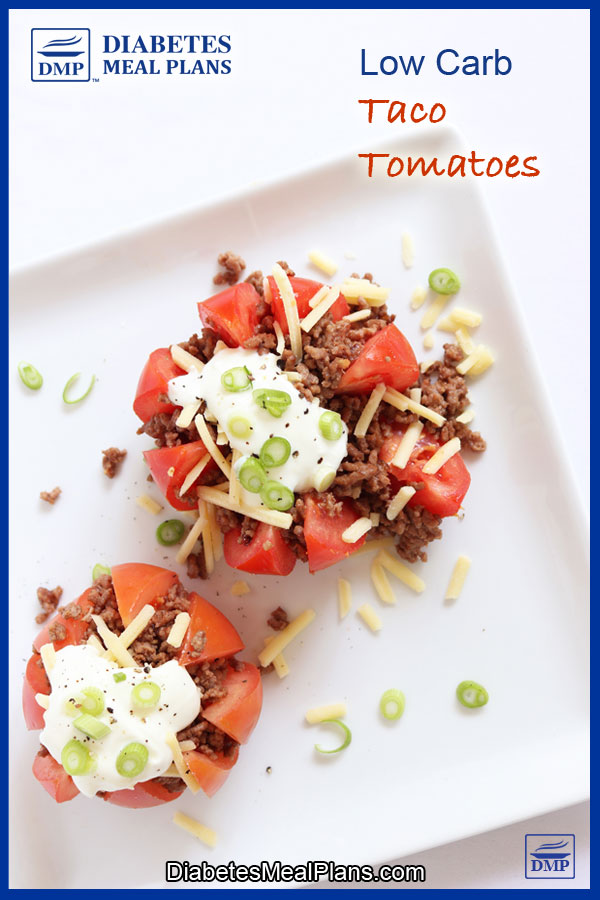 Taco Tomatoes: Low carb 5 ingredient meal