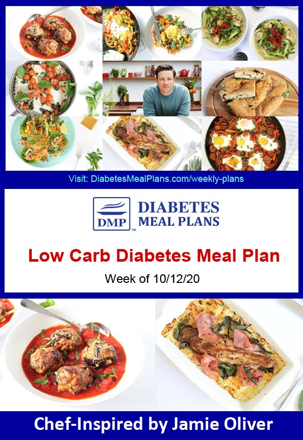 Diabetes Meal Plan: Menu Week of 10/12/20