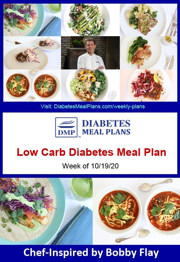 Diabetes Meal Plan: Menu Week of 10/19/20