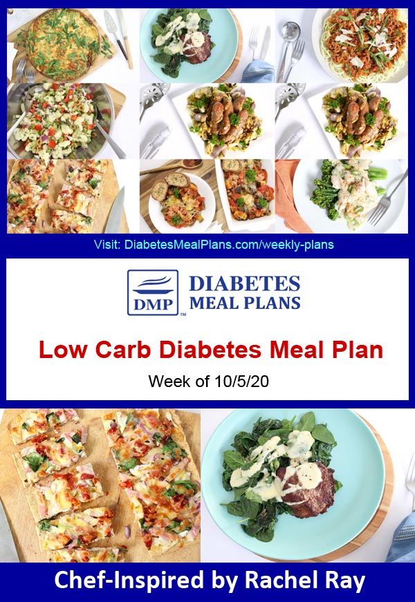 Diabetes Meal Plan: Menu Week of 10/5/20