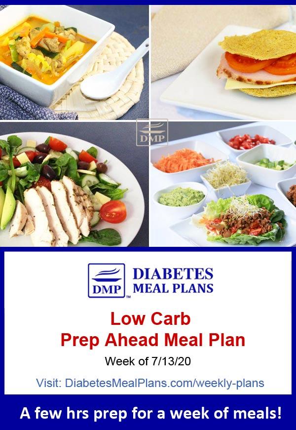 Diabetes Meal Plan: Menu Week of 7/13/20