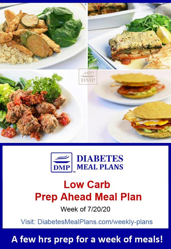 Diabetes Meal Plan: Menu Week of 7/20/20