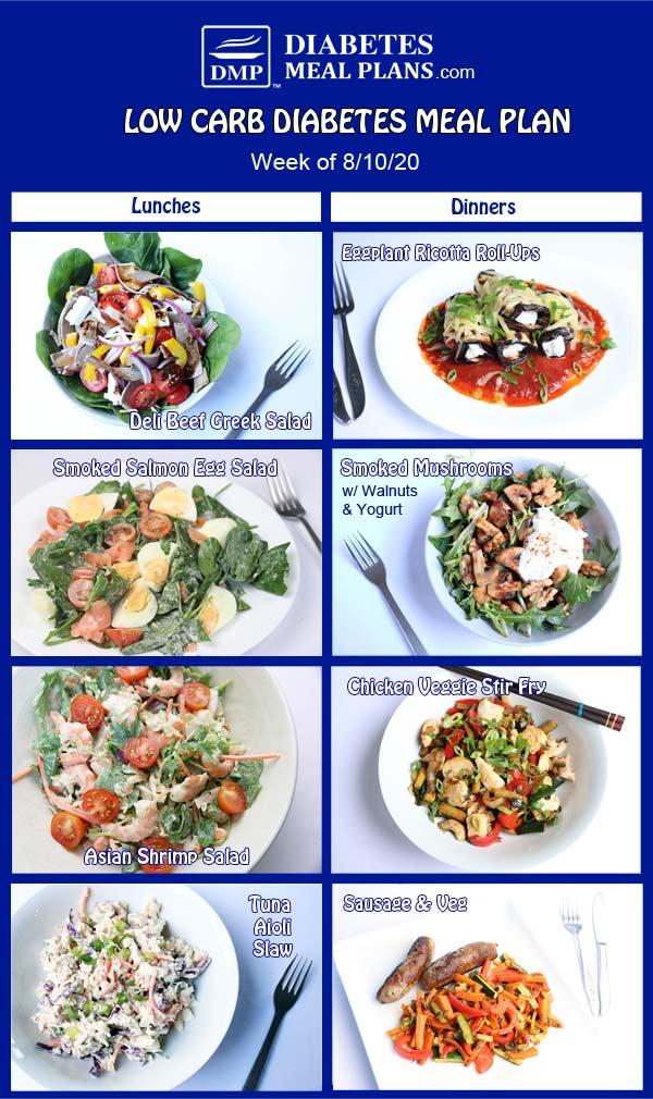 Diabetes Meal Plan: Menu Week of 8/10/20