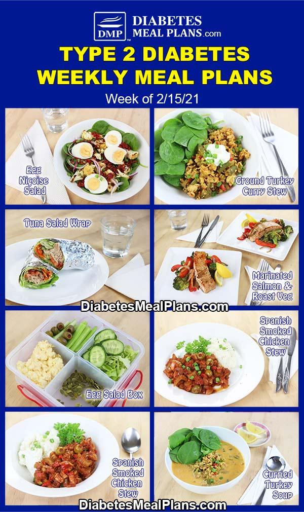 Diabetes Meal Plan: Menu Week of 2/15/21