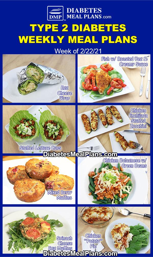 Diabetes Meal Plan: Menu Week of 2/22/21