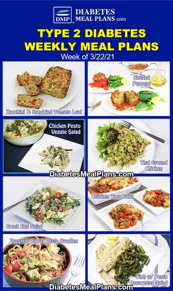 Diabetes Meal Plan: Menu Week of 3/22/21