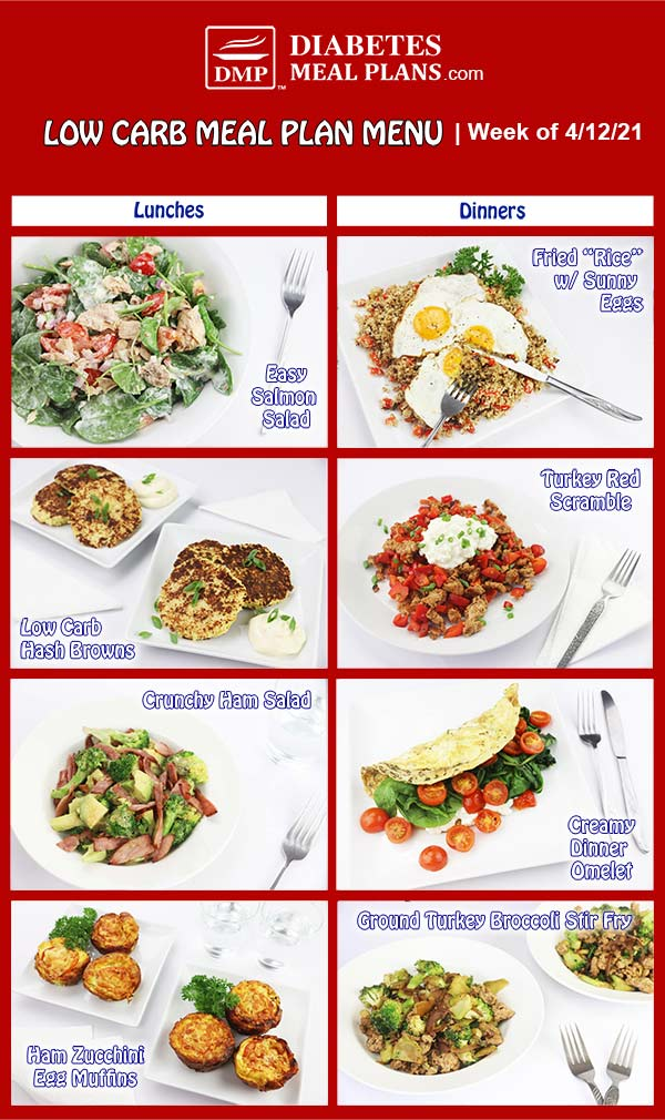 Diabetes Meal Plan: Menu Week of 4/12/21