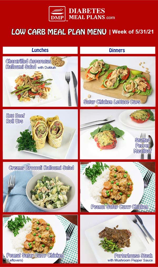 Diabetes Meal Plan: Menu Week of 5/31/21