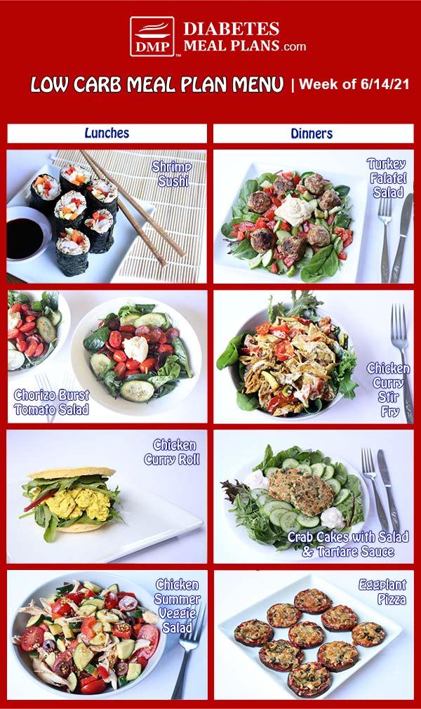Diabetes Meal Plan: Menu Week of 6/14/21