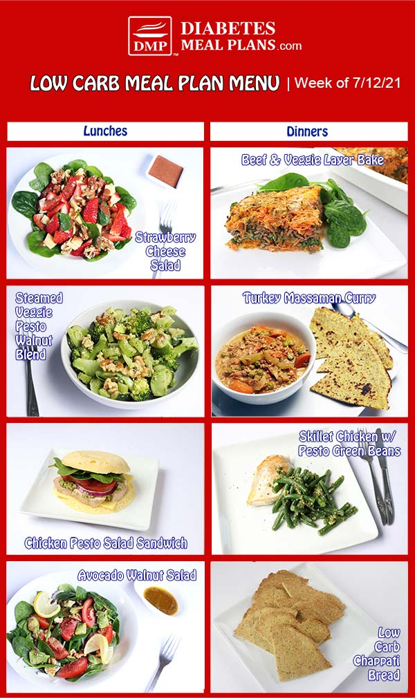 Diabetes Meal Plan: Menu Week of 7/12/21