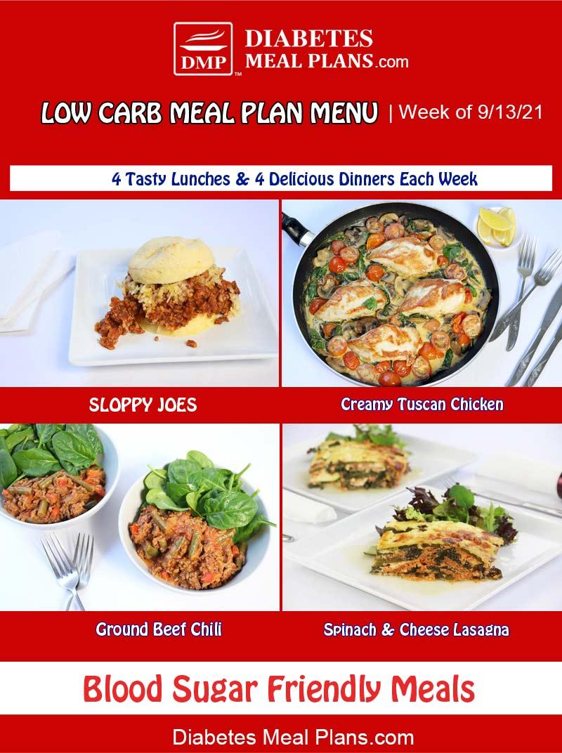 Diabetes Meal Plan: Menu Week of 9/13/21